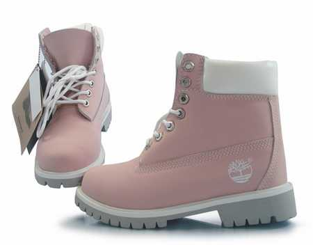 e462b1aeb057cb 2017 chaussures de sport confortables Conception raisonnable femme roll-top bottes  rose et blanc - timberland pas cher pour .